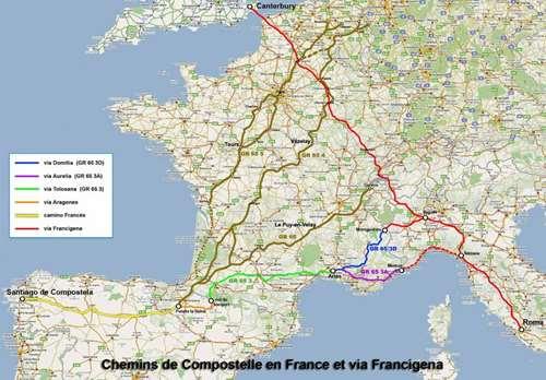 Carte Via Francigena